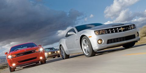 2010 Chevy Camaro SS vs  2010 Ford Mustang GT, 2009 Dodge