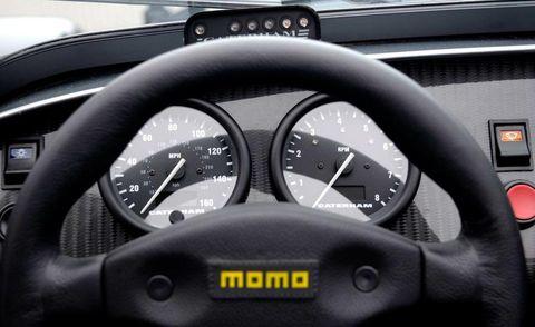 Motor vehicle, Mode of transport, Transport, Steering wheel, Speedometer, White, Steering part, Gauge, Tachometer, Black,