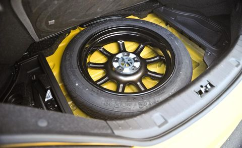 donut spare tire in trunk