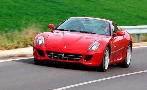 Automotive design, Vehicle, Road, Land vehicle, Performance car, Car, Red, Hood, Supercar, Fender,
