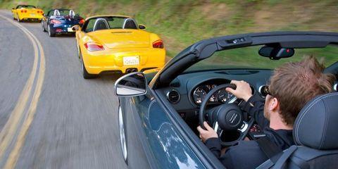 2009 chevrolet corvette convertible, 2009 bmw z4 sdrive35i, 2009 porsche boxster s, 2009 audi tts roadster