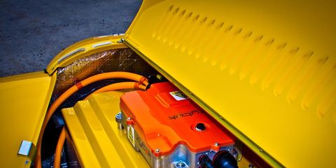 Yellow, Orange, Electrical wiring, Wire, Classic, Cable, Electrical supply, Plastic, Automotive engine part, Engine,