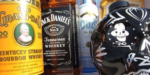 Bottle, Liquid, Alcoholic beverage, Amber, Alcohol, Logo, Glass bottle, Drinkware, Drink, Barware,