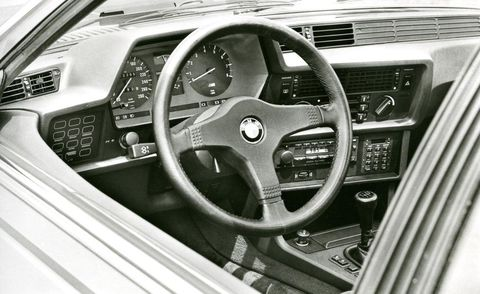1984 bmw m635csi interior