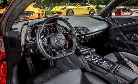 2017 Audi R8 V-10 Plus vs  McLaren 570S, Porsche 911 Turbo S
