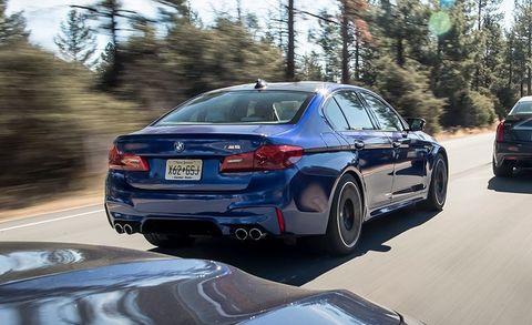 2018 BMW M5 vs  Cadillac CTS-V, Mercedes-AMG E63 S, Porsche Panamera