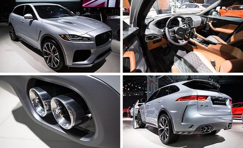 2019 Jaguar F-Pace SVR: News, Design, Engine, Price >> 2019 Jaguar F Pace Svr Packs 550 Hp News Car And Driver