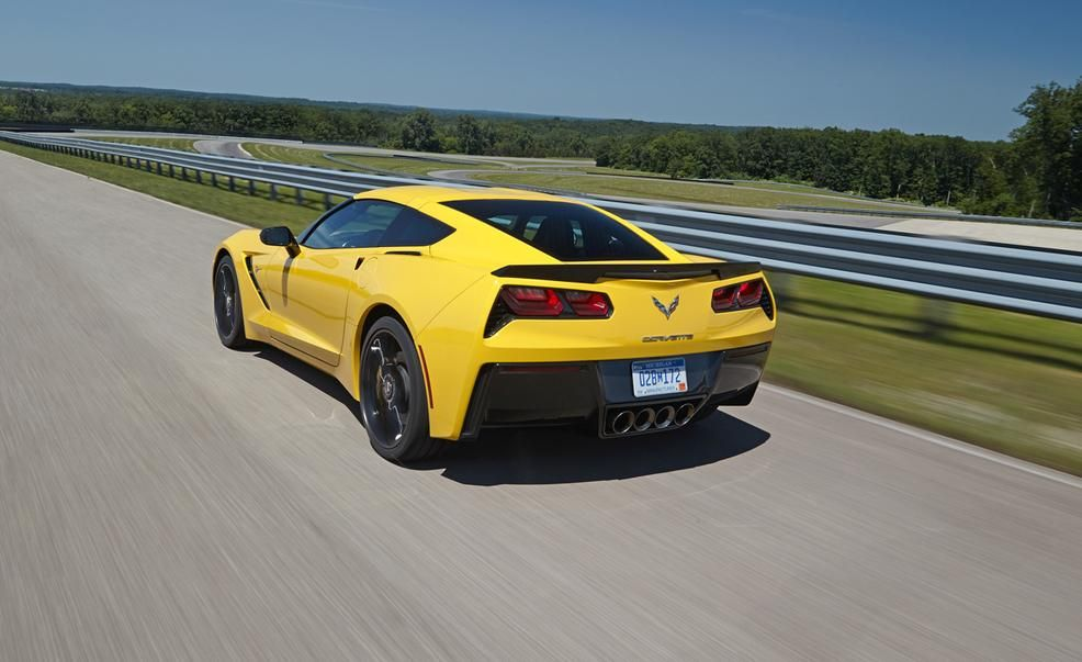 2015 CHEVY CORVETTE Z06 yellow side POSTER 24 X 36 INCH Looks Awesome Z06 C6 C7