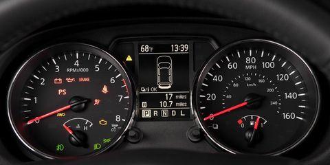 Mode of transport, Transport, Speedometer, Tachometer, Gauge, Orange, Fuel gauge, Trip computer, Black, Measuring instrument,