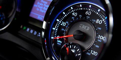 Speedometer, Gauge, Measuring instrument, Trip computer, Tachometer, Luxury vehicle, Display device, Vehicle audio, Odometer, Personal luxury car,