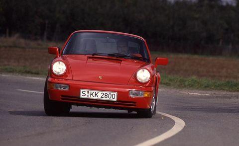 1990 porsche 911 carrera 2 coupe exterior