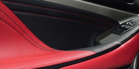 Automotive design, Carmine, Leather, Carbon, Car seat, Vehicle door, Gloss,