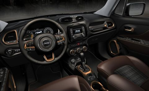 Motor vehicle, Steering part, Mode of transport, Steering wheel, Brown, Vehicle, Automotive design, Center console, Vehicle audio, White,