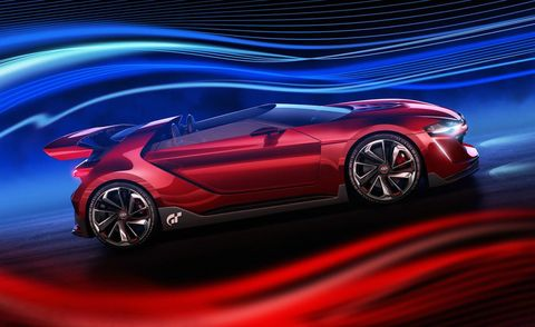 Tire, Wheel, Mode of transport, Automotive design, Vehicle, Concept car, Car, Red, Automotive lighting, Vehicle door,