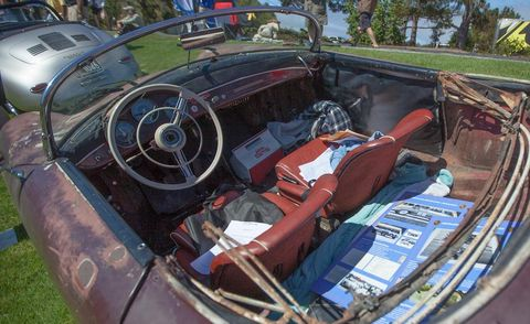 Motor vehicle, Steering part, Steering wheel, Classic car, Vehicle door, Antique car, Trunk, Classic, Car seat, Vintage car,