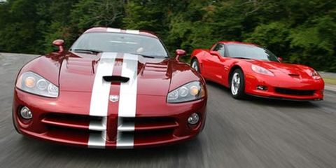 2008 dodge viper srt10, 2007 chevrolet corvette z06