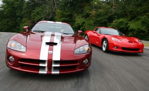2008 dodge viper srt10, 2007 chevrolet corvette z06