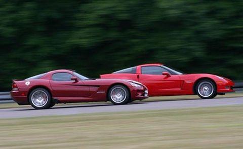2007 chevrolet corvette z06 and 2008 dodge viper srt10 coupe