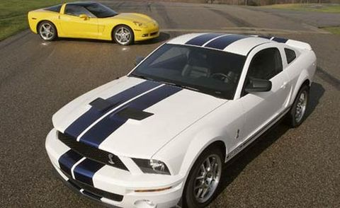2006 chevrolet corvette and 2007 ford mustang shelby gt500