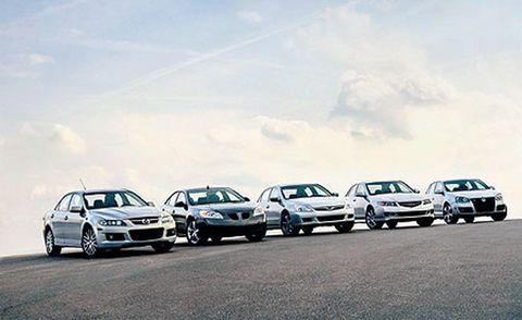 2006 acura tsx, 2006 honda accord, 2006 mazdaspeed 6, 2005 pontiac g6, 2006 volkswagen jetta