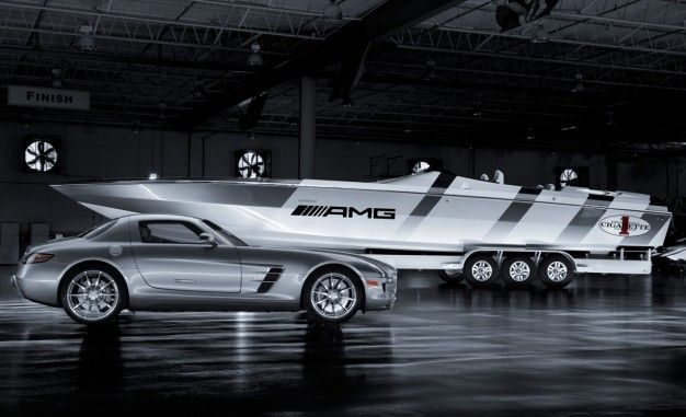 cigarette racing amg inspired boat