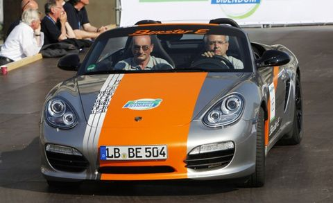 We Previously Reported That Porsche Was Working To Develop Three Electric Boxster Prototypes And Last Week Es Made Their Public Debut At The