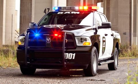 Dodge Charger With A Light Bar Is The Most Intimidating Cop Vehicle Extant You Might Want To Take Gander At Ram Truck S New Police Spec 1500 Crew Cab