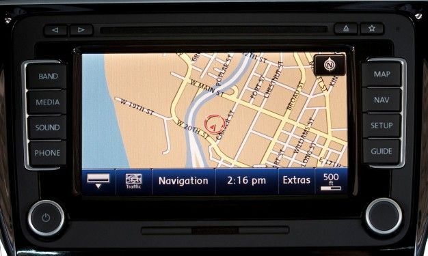 vw navigation screen
