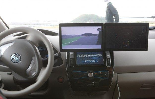 nissan autonomous emergency steer display