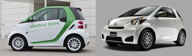 smart electric drive and scion iq