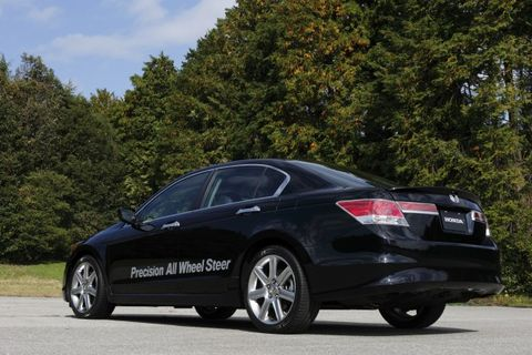 A Previous Gen Honda Accord Ed With Precision All Wheel Steer Which We Ll See In The 2017 Acura Rlx