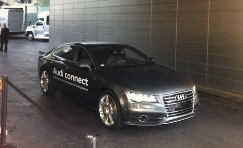 We Watch a Audi A7 Drive Away and Park All By Itself—With No Driver