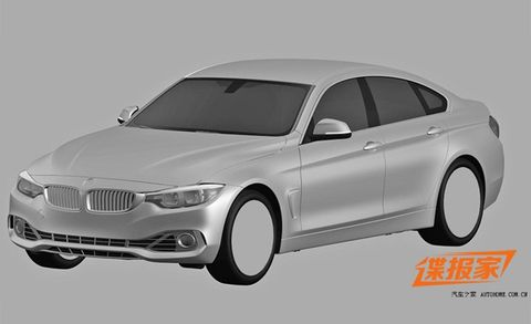 2015 BMW 4-series Gran Coupe Possibly Revealed in Patent Images