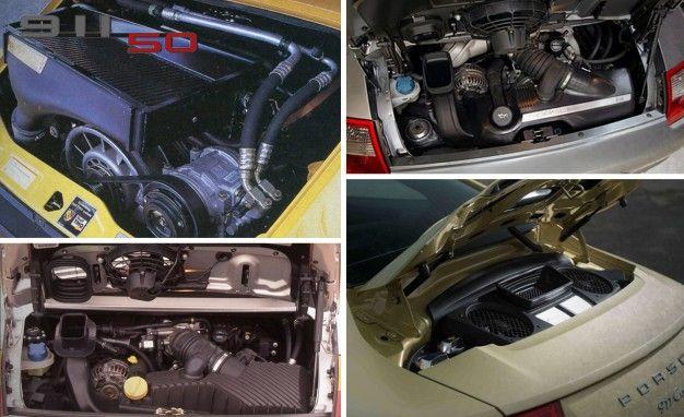 porsche 911 engines collage