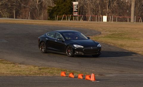 We Track a Tesla Model S at Lime Rock Park – Feature – Car and Driver