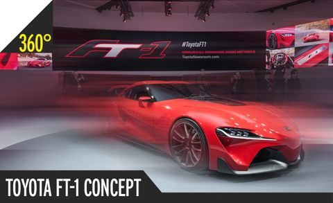 Toyota FT-1 Concept 360º Photos: A Full Rotation of Awesomeness [2014 Detroit Auto Show]