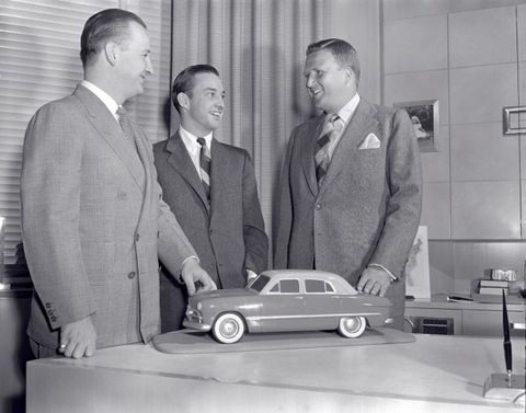 13c5f3f6e0b William Clay Ford joined his brothers Benson (left) and Henry II (right) at  the family business in 1949.