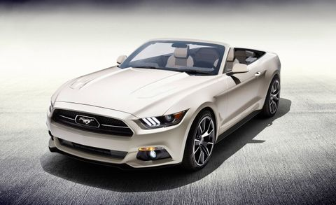 One-Off Ford Mustang 50th Anniversary Mustang Convertible ...