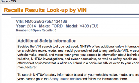 Vin Owner Lookup >> Nhtsa Launches Vin Look Up Tool For Recall Repairs News Car And