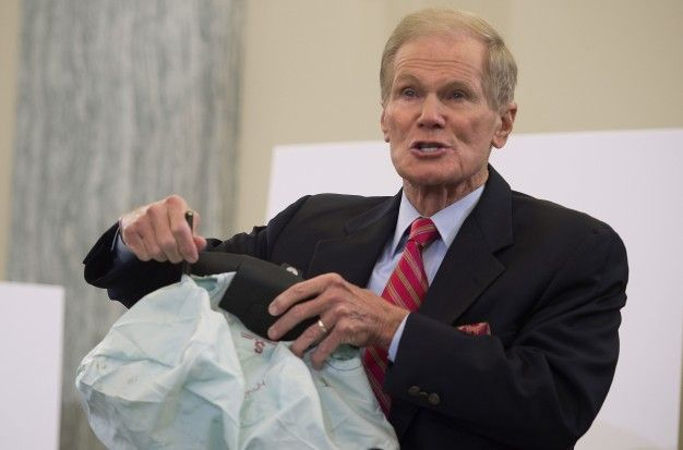 senator bill nelson with takata airbag
