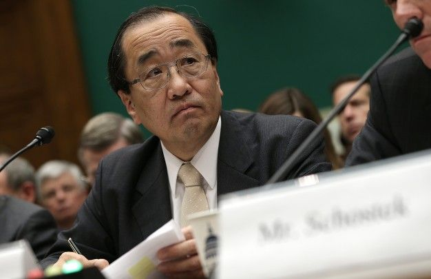 hiroshi shimizu, takata's senior vice president of global quality assurance, testifies before the house energy and commerce committee on dec 3