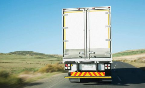 Motor vehicle, Road, Product, Transport, Automotive exterior, Road surface, Truck, Infrastructure, Asphalt, Commercial vehicle,