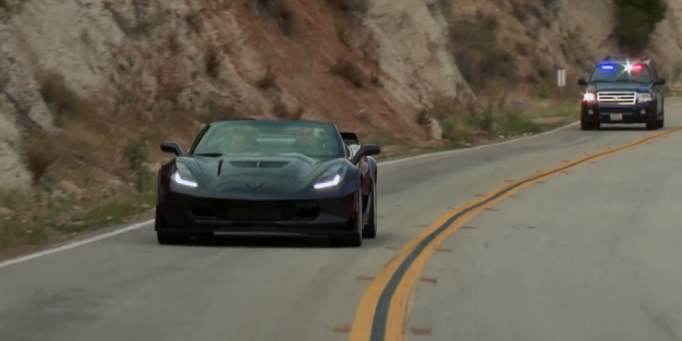 watch jay leno get pulled over in a 2015 corvette z06