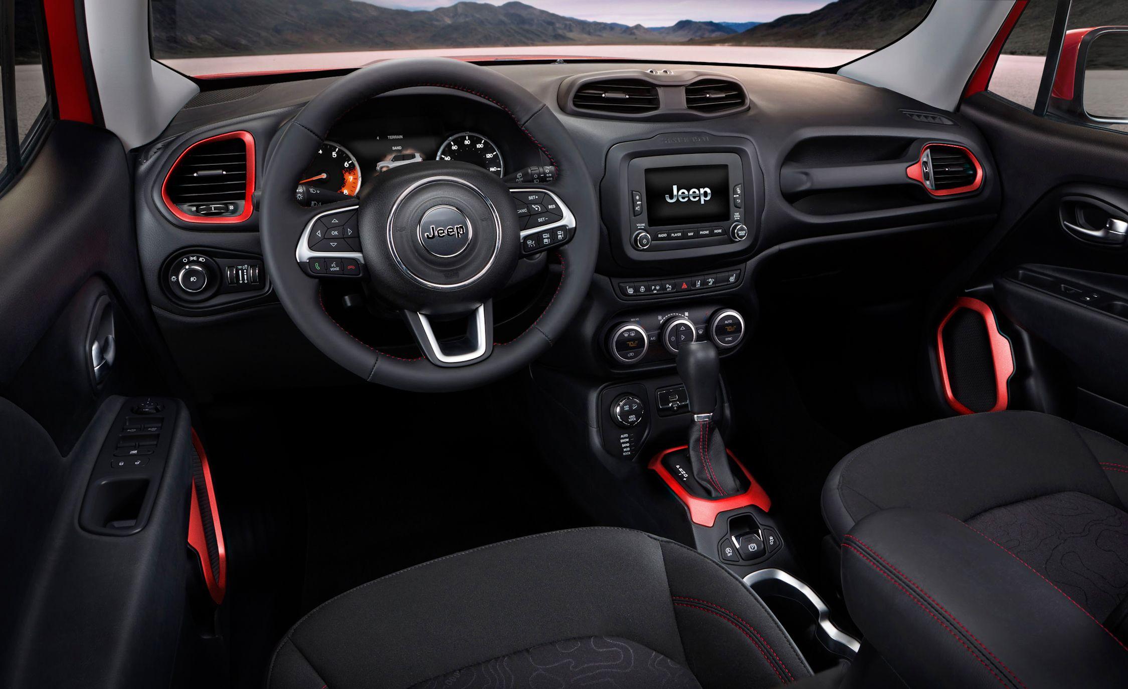 Black 2015 Jeep Renegade Interior