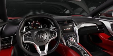 Motor vehicle, Steering part, Mode of transport, Automotive design, Steering wheel, Red, Speedometer, Center console, Car, Sports car,