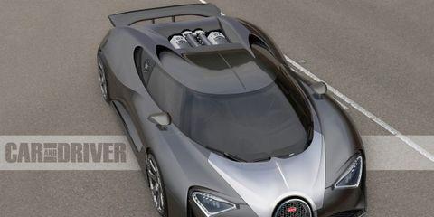 2017 Bugatti Chiron (artist's rendering)