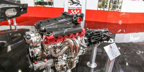 Engine, Machine, Automotive engine part, Auto part, Automotive super charger part, Exhibition, Nut,