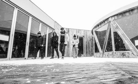 Monochrome, Black-and-white, Monochrome photography, Snow, Railroad car, Shadow,
