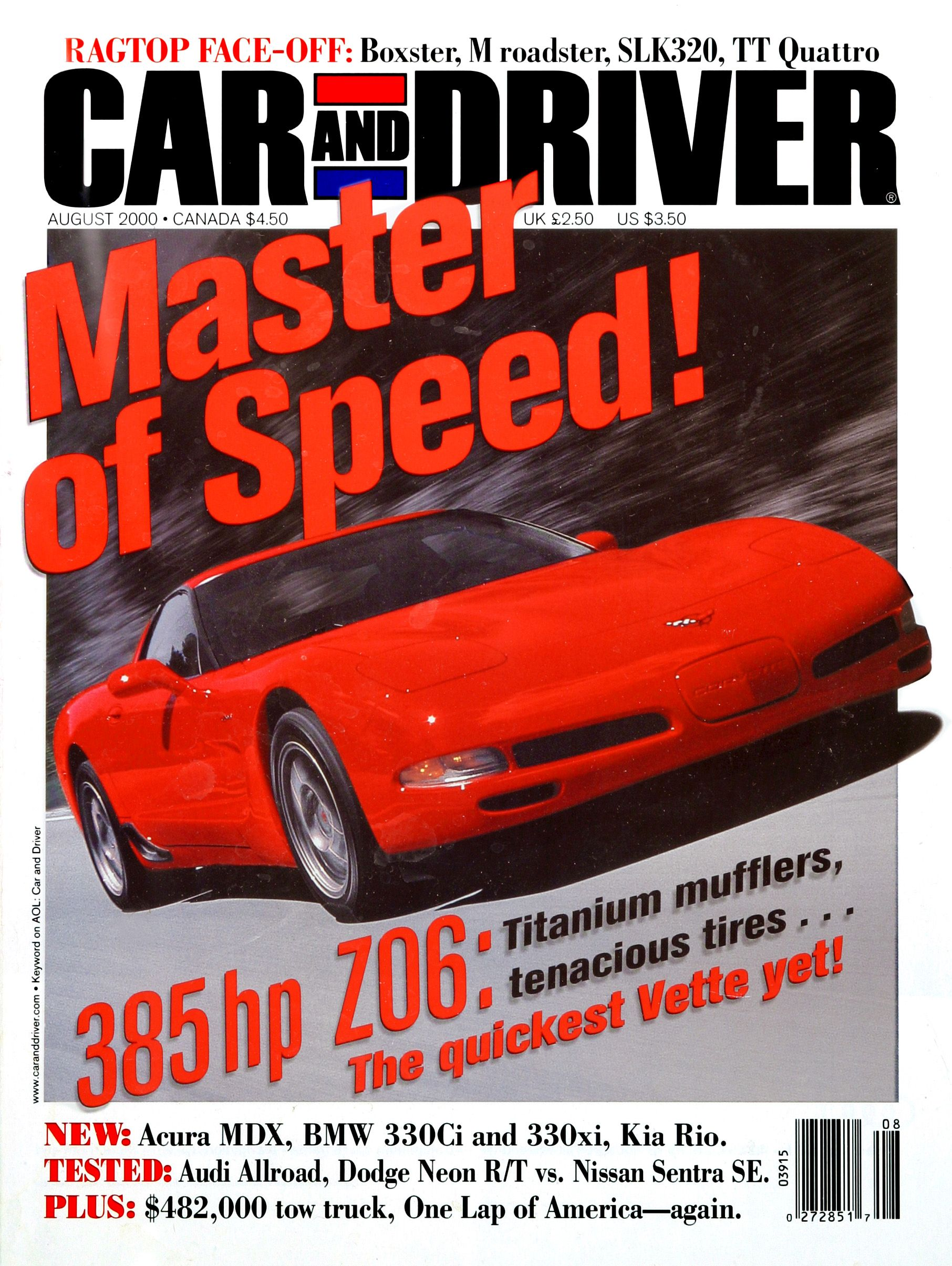 Every Car and Driver Cover with a Corvette On It Since 1955
