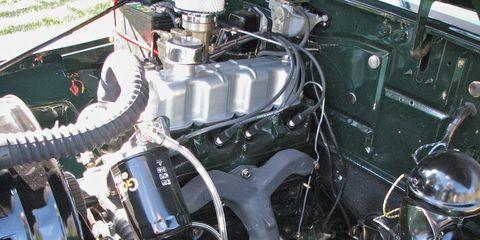 Motor vehicle, Engine, Automotive engine part, Auto part, Automotive air manifold, Automotive super charger part, Nut, Automotive fuel system, Fuel line, Classic,